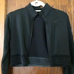 Nike Cropped Black Jacket Size M